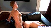 Muscular straight jock assfucks cocksucker