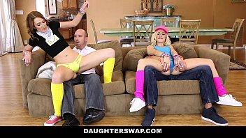 DaughterSwap - Slutty Teen Girls (Alyce Sage)  (Kimberly Moss) Fucked Before Rave