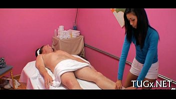 Oral-job during the massage