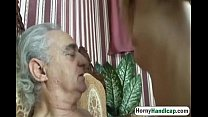 Horny old dick gets to fuck a y. slutty babe-hi-1