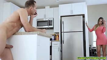 Step dad Rich stuffs Karlie Brooks shaved pussy