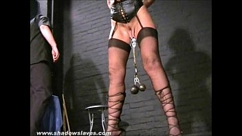 Submissive Crystel Leis tit torments and pussy punishment of blonde slave girl b