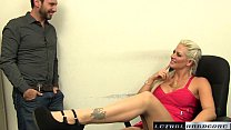 Holly fucks her step brother and swallows his cum