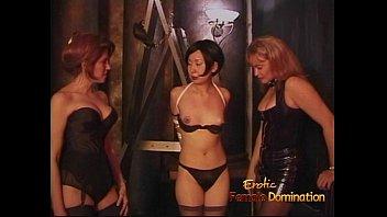 Three lusty sluts enjoy having some naughty fun with an Asian chick