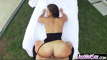 (kelsi monroe) Girl With Big Round Butt Get Oiled And Anal Sex movie-14