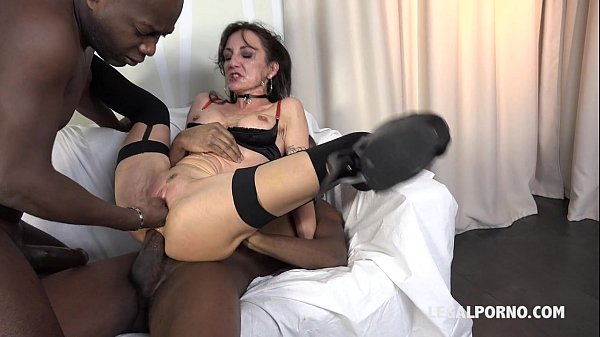 Slutty french bitche Lyna Cypher gets addicted to Big Black Cocks