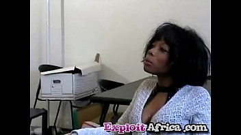 Milf black babe hairy pussy fucked hard by y. stud