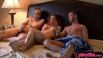 Amateur wife needs an extra cock so she tries threesome sex 6 min