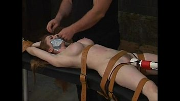 Hardcore bondage tied Natali demore to cum