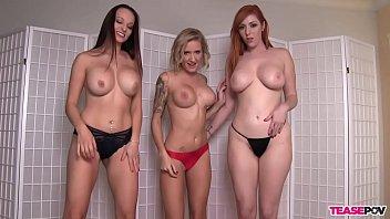 Lexi Luna Reagan Lush And Lauren Phillips Sucking One Cock - CamGirlsHorny.com