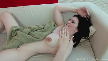 Beautiful black haired babe gets nicely penetrated 26 min