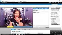 Hot brunette camgirl shocked by big cock cum - camgirlstalk.com