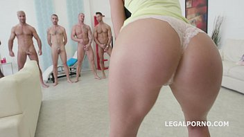 7on1 Double Anal GangBang with IncredibleTina Kay - Cannot Break her!