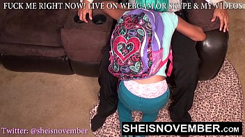 HD Msnovember Caught Ditching School, Must Get On Her Knees And Suck Stepdads Cock. Black Stepdaughter Giving Oral Sex To Keep Her Secrete on Sheisnovember