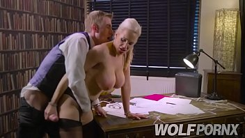 Horny secretary does her job wrong but she solves it by giving me a good blowjob
