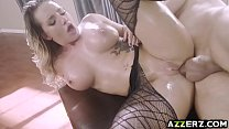Sexy ass babe Cali Carter fucks from behind