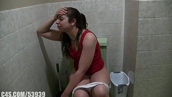 girl with diarrhea.