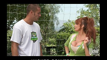 Big-tit British redhead Soccer mom Lia Lor fucks her son's coach
