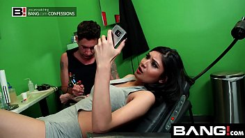 BANG Confessions Busty Asian Brenna climax getting a tattoo