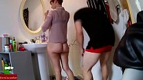 She rubbing herself to go out with her friends and he sticking her dick behind CRI054