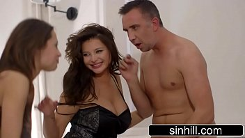 Male Gigolo Pleases 2 Beauties At The Same Time - Anna Polina & Nikita Bellucci