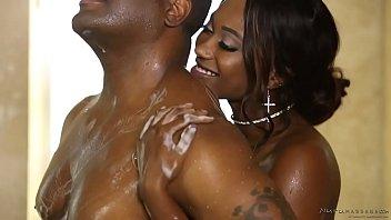 Hot nuru massage with a booty ebony - Skyler Nicole, Tyler Knight