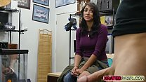 Busty latina lady with big tits fucked hard for cash