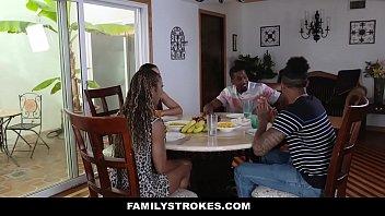 FamilyStrokes - Family Dinner Fuck Fest (Adriana Maya) (Misty Stone)
