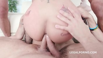 Asian Hooker Jureka Del Mar farts Hard while Being Fucked by 4!