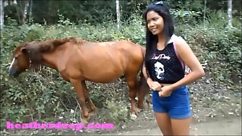 HD Heather Deep 4 wheeling on scary fast quad and Peeing next to horses in the