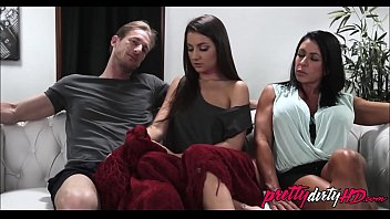 Teen Step Daughter Lily Adams Plays With Dad In Front of Mom