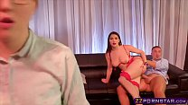 A beauty VIP room dancer does anal with her client
