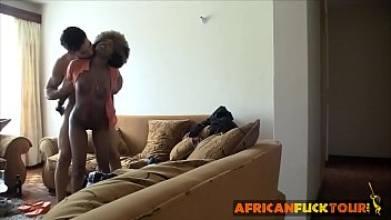 Afro babe enjoys visiting old time friend