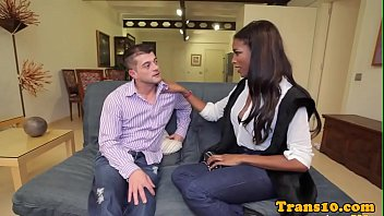 Bigtitted black tgirl pounded with dick