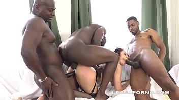 Monster Cock Lover Dana Santo vs 4 black bulls - Can she Handle it?