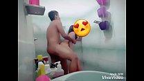 En la ducha con la novia