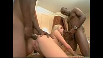 Interracial threesome for white bitch