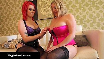 Busty Lesbian Stars Maggie Green & Siri Lick Pussy & Tits!