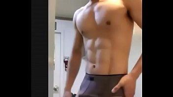 Asian Dude Sucking His Uncut Cock