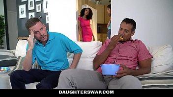 DaughterSwaps - Teen (Arianna Aimes) (Shae Celestine) Fucks Older Daddy