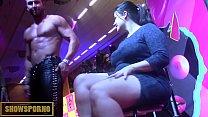 Bigdick stripper and pole dancer on stage