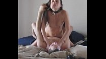 Two Orgasms with collar smalltits gfs