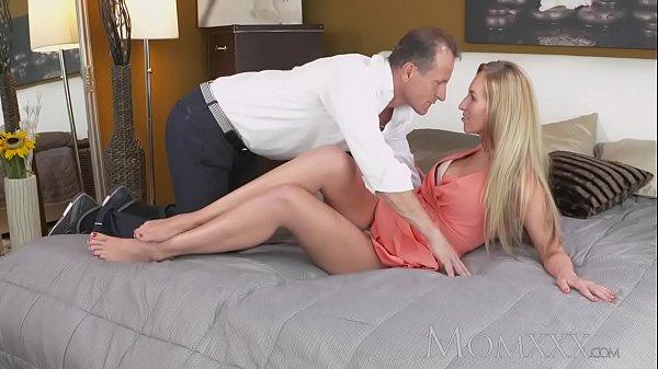 MOM Stunning blonde MILF with amazing body sucks and fucks guys hard cock