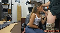 Amateur woman gets pounded by pawn dude