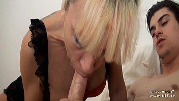 Busty amateur french cougar sodomized n jizzed on body