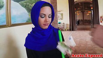 Cum tasting arab babe screwed from behind