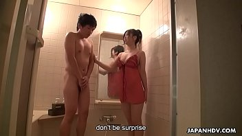 Good looking Asian fairy eagerly takes away shy dude's virginity