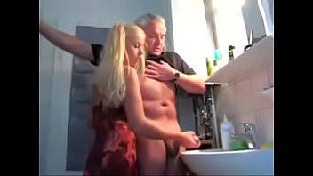 4158534 young girl milks old man wf