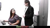 Married boss bangs big black secretary
