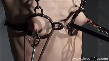 Electro bdsm and feet punishment of slave Elise Graves in dungeon tit t. an